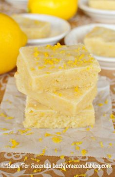 These Fudgy Lemon Brownies are soft and fudgy and are bursting with bright lemon flavor! If you like lemon bars, you will love these!