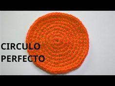 Como tejer un circulo perfecto en tejido crochet tutorial paso a paso. - YouTube