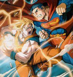 Who'd win Superman or Goku? Comment for Goku. Like for Superman. Share if you think they'd just destroy the planet! Crossover, Goku Vs Superman, Real Superman, Superman Stuff, Batman Vs, Comic Art, Comic Books, Dragon Ball Z Shirt, Anime Comics