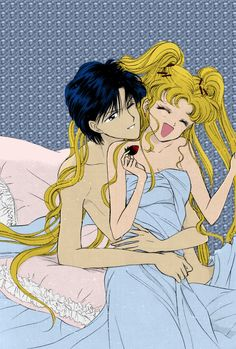 Serena and Darien. Anime. Sailor moon.