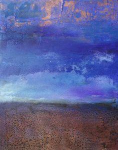 "Saatchi Art Artist Fabien Bruttin; Painting, ""Ciel cuivré"" - Featured on Get Zen: 7 Ideas for Creating a More Tranquil Home This Year - http://canvas.saatchiart.com/decor/inspiration/get-zen-7-ideas-for-creating-a-more-tranquil-home-this-year"