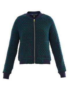 Marc by Marc Jacobs Argyle quilted bomber jacket on shopstyle.com
