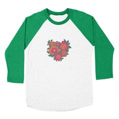 ROSA [B] Women's Baseball Triblend T-Shirt by Veronica Galbraith • Surface Pattern Designer