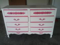 French Provencial Bedroom dresser and nightstand.  via Etsy.