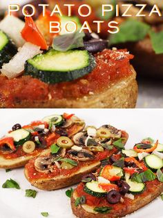 13 #Healthy #GlutenFree Ways to Make Pizza! Veggie crusts and other fun ideas. #nutrition