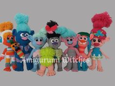Trolls by AmigurumiWitches on Etsy