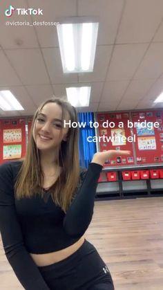 How to do a bridge cartwheel Gymnastics For Beginners, Gymnastics Tricks, Gymnastics Skills, Gymnastics Workout, How To Do Gymnastics, Gymnastics Stretches, Ballerina Workout, Dancer Workout, Yoga Routine