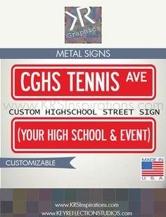 Custom High School Sport/Activity Street Sign $14.95 USD