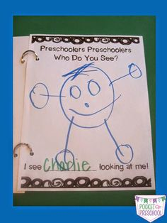 Preschoolers, Preschoolers Who Do You See?  a fun class book to help students learn each others names.  Pocket of Preschool