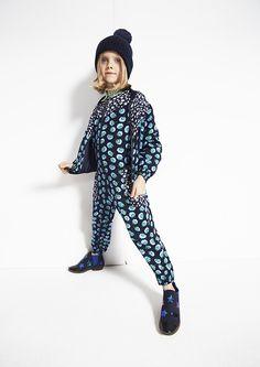 Stella McCartney Kids AW '15 - Midnight Maple Pom Pom Print Jacket.