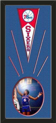 Philadelphia 76ers Wool Felt Mini Pennant & Julius Erving Action Photo - Framed With Team Color Double Matting In A Quality Black Frame-Awesome & Beautiful-Must For A Championship Team Fan! Most NFL, MLB, NBA, Teams Available-Plz Mention In Gift Message If Need A different Team Art and More, Davenport, IA http://www.amazon.com/dp/B00I3EX24G/ref=cm_sw_r_pi_dp_ZWsEub1JWM9GN