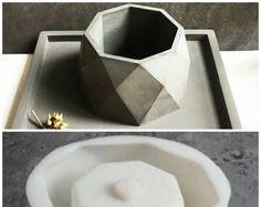 moule en silicone ciment géométrique vent nordique commencer bricolage pots 3d vase cristal fleurs coupées pots moule de fleur