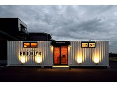Shipping Container Offices – The Perfect Workplace – My Life Spot Container Coffee Shop, Container Cafe, Container Design, Sea Container Homes, Shipping Container Office, Barber Shop Interior, Container Restaurant, Cool Garages, Casas Containers