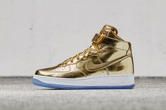 buy cheap c1a6b ef293 Deck out the Air Force 1 and Air Max 90 in metallic gold, silver and