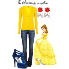 An outfit inspired by the Disney princess Belle.