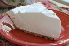 Lemonade Pie. It's creamy, it's fresh, it's summertime on a plate! So easy -  just 4 ingredients.