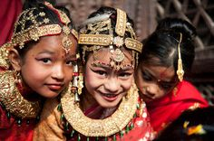 """Photo by Jitu'cha -  Bel Bibaha """"Ehee"""" is a ritual that signifies a coming of age for Newar girls.  It is an age-old tradition followed devoutly by the Newar community – the  predominant resident population in Patan, Kathmandu, Bhaktapur  and Kirtipur in Nepal."""