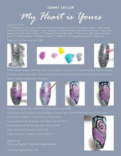 "♥ Tammy Taylor ""My Heart is Yours"" Nail Design Step by Step Hard Nails, Thin Nails, How To Do Nails, Great Nails, Cute Nails, Nail Tek, Peeling Nails, Tammy Taylor Nails, Broken Nails"