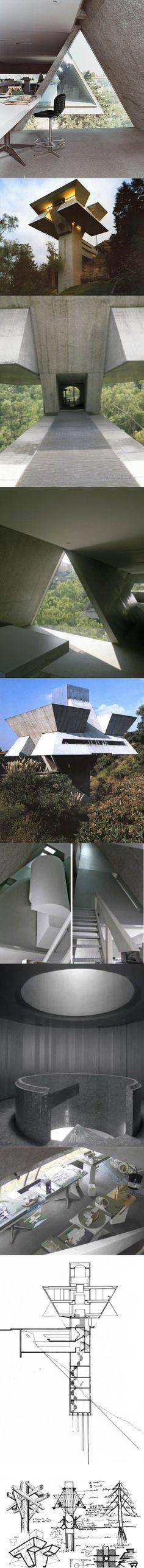 1975 Augustín Hernández Navarro - Praxis / Mexico City / concrete glass / brutalism