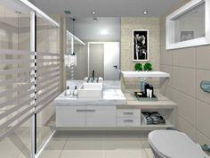 ... modern bathroom - Rede Lar&cia #OmegaVanityMakeover