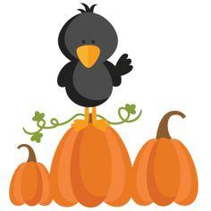Autumn Crow SVG