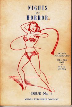 Vintage Sleaze: Horrors of the Comic Book Museum! Joe Shuster Draws Super Vintage Sleaze Nights of Horror The Rare Digests Number 44