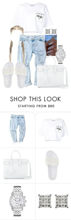 """""""Power Trip x J.Cole"""" by ssophiiia ❤ liked on Polyvore featuring Moschino, Yves Saint Laurent, Puma and Michael Kors"""