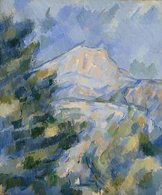 cezanne1904 06 la montagne sainte victoire il y a dans - Lumire Colore