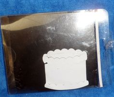 "Sizzix BIRTHDAY CAKE #2 Appox. 2 5/8"" across  in original case Scrapbooking TE9 #Sizzix"