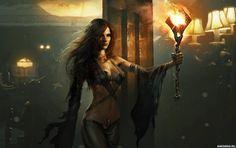 Стройная девушка со светящимся жезлом - картинки, фото, аватары