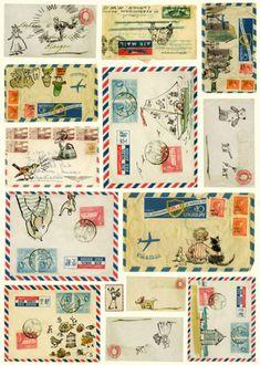 Vintage travel letters