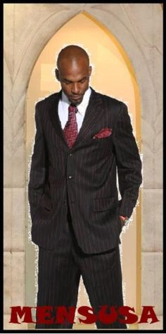 Exclusive #Stunning #Mens #Black & #Red #Pinstripe #3 #Buttons #Suit for #$169 also known as #prom #suits