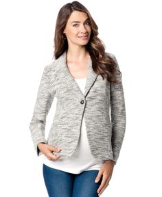 A Pea In The Pod Maternity French-Terry Blazer
