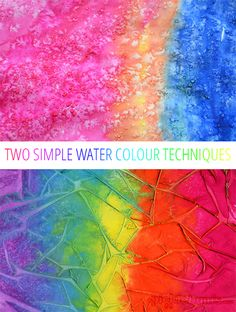 Two easy water color techniques to try! Fun art project for kids!