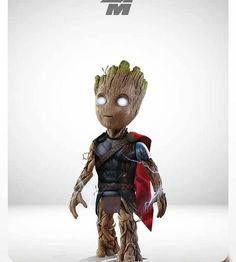 Groot of thor❤ Marvel Art, Marvel Dc Comics, Marvel Avengers, Marvel Funny, Marvel Memes, Xman Marvel, Deadpool Pikachu, Groot Guardians, Marvel Drawings