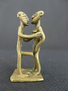 ART AFRICAIN AKAN ASHANTI BRONZE MINIATURE EROTIQUE ETHNIQUE POIDS A PESER L'OR | eBay