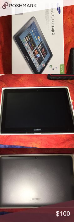 Samsung tablet Silver Samsung galaxy tablet 2 like new condition with charging cord. Samsung Accessories Tablet Cases