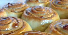 cinnamon rolls, roulés à la cannelle Desserts Français, Bon Dessert, Cinnamon Rolls, Biscuits, Brunch, Menu, Thanksgiving, Pudding, Homemade