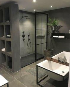 Useful Walk-in Shower Design Ideas For Smaller Bathrooms – Home Dcorz Bathroom Shelf Decor, Diy Bathroom, Bathroom Goals, Small Bathroom, Shiplap Bathroom, Bathroom Organization, Bathroom Ideas, Bad Inspiration, Bathroom Inspiration