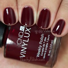 CND VINYLUX Rouge Rite | Fall 2015 Contradictions Collection | Peachy Polish #red