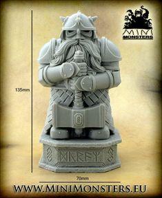 Mini Monsters: Dwarf Warrior Statue