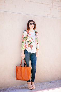 Denim and Floral via @ultimatewoman83