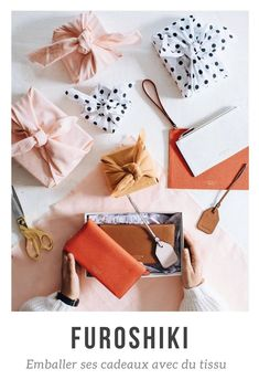 Furoshiki: zero waste gift packaging - Furoshi: wrapping gifts with fabric / DIY zero waste Diy Cadeau Noel, Asian Decor, Gift Packaging, Zero Waste, Gift Bags, Christmas Diy, Gift Wrapping, Furoshiki Wrapping, Wrapping Ideas