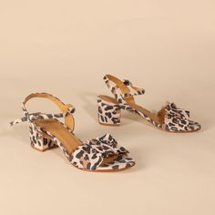 CLARISSE Suede Faux Leopard | Emma Go My Emma, Long Toes, Your Shoes, How To Introduce Yourself, Block Heels, Open Toe, Spring Summer, Leather, Fashion