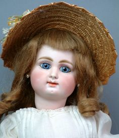 """Extremely Rare 16"""" Rabery & Delphieu French Bebe on a Mechanical Roulet & Descamps Walking Body"""
