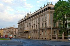 Marble Palace built by Rinaldi and the Saltykov House built by Quarenghi in Saint-Petersburg, Russia