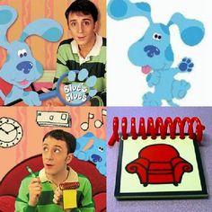 Las pistas de Blue (1996-2006) trata sobre una perrita azul, junto a su amo Steve (Joe, a partir de la temporada 4), quienes deben descifrar diferentes cosas cada capítulo, buscando pistas. Hay muchos otros personajes, entre ellos Magenta.