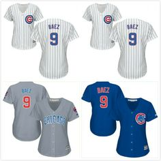 43e98267731 Women's Chicago Cubs Javier Baez Replica white Jersey free shipping #MLB  White Jersey, Jersey