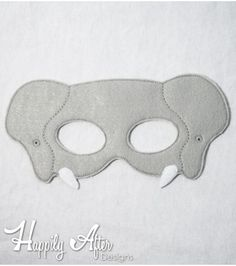 Elephant Mask ITH Embroidery Design