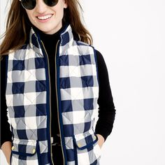 Excursion quilted vest in buffalo check : vests | J.Crew
